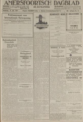 Amersfoortsch Dagblad / De Eemlander 1931-07-16