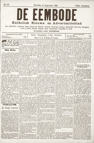 De Eembode 1891-09-19