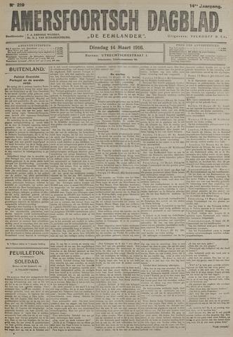 Amersfoortsch Dagblad / De Eemlander 1916-03-14
