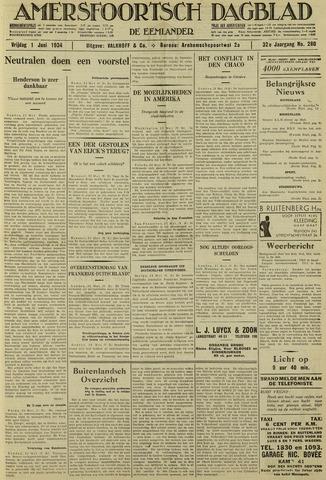 Amersfoortsch Dagblad / De Eemlander 1934-06-01
