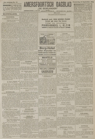 Amersfoortsch Dagblad / De Eemlander 1925-09-24