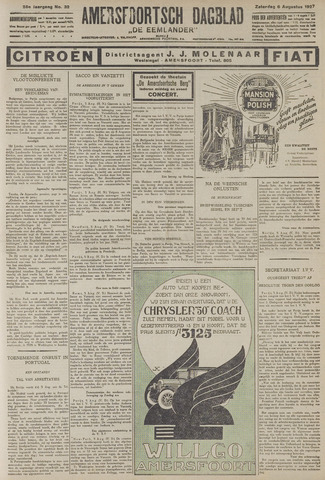 Amersfoortsch Dagblad / De Eemlander 1927-08-06