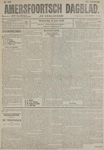Amersfoortsch Dagblad / De Eemlander 1916-06-14