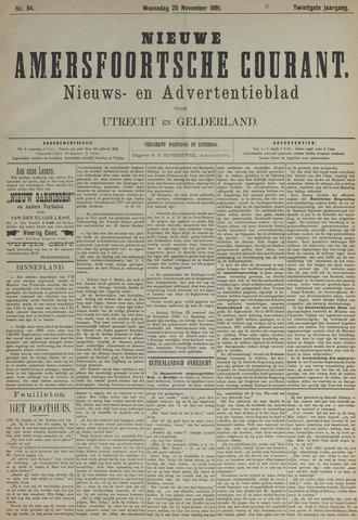 Nieuwe Amersfoortsche Courant 1891-11-25