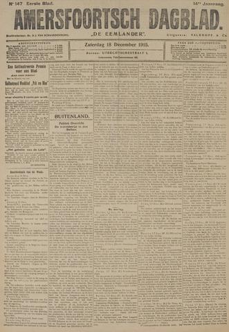 Amersfoortsch Dagblad / De Eemlander 1915-12-18