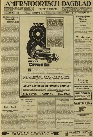 Amersfoortsch Dagblad / De Eemlander 1933-03-21