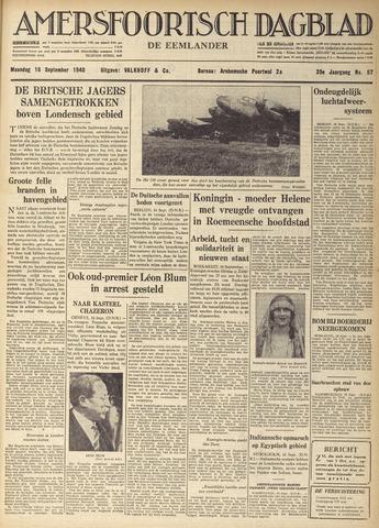 Amersfoortsch Dagblad / De Eemlander 1940-09-16