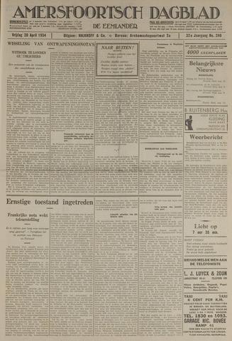 Amersfoortsch Dagblad / De Eemlander 1934-04-20
