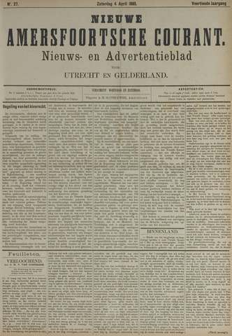 Nieuwe Amersfoortsche Courant 1885-04-04