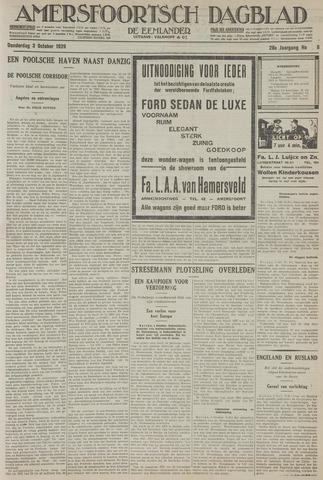 Amersfoortsch Dagblad / De Eemlander 1929-10-03