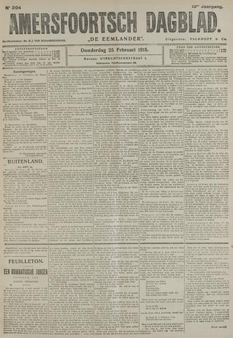 Amersfoortsch Dagblad / De Eemlander 1915-02-25