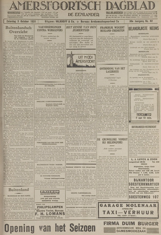 Amersfoortsch Dagblad / De Eemlander 1931-10-03