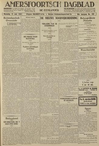 Amersfoortsch Dagblad / De Eemlander 1932-06-15