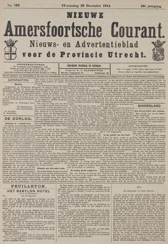 Nieuwe Amersfoortsche Courant 1914-12-30