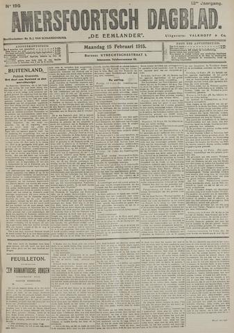 Amersfoortsch Dagblad / De Eemlander 1915-02-15