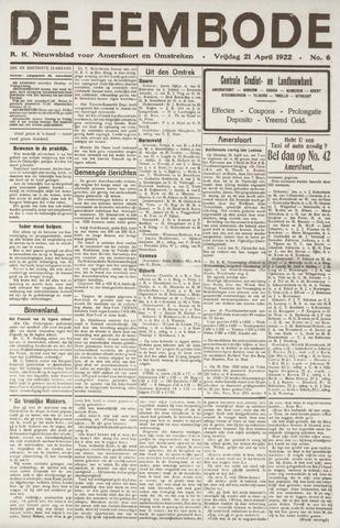De Eembode 1922-04-21