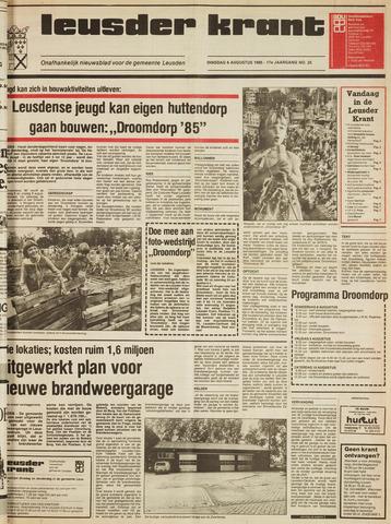 Leusder Krant 1985-08-06