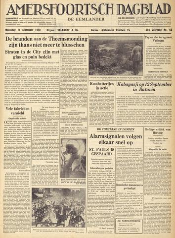 Amersfoortsch Dagblad / De Eemlander 1940-09-11