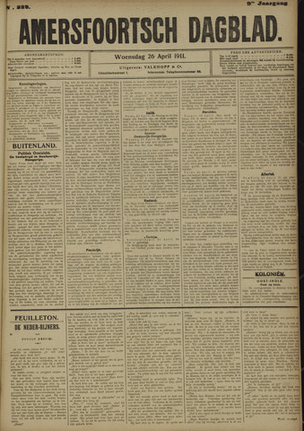 Amersfoortsch Dagblad 1911-04-26