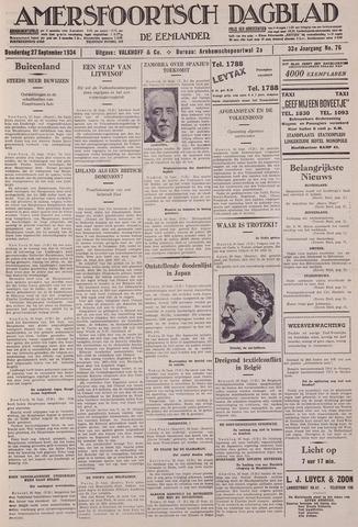 Amersfoortsch Dagblad / De Eemlander 1934-09-27