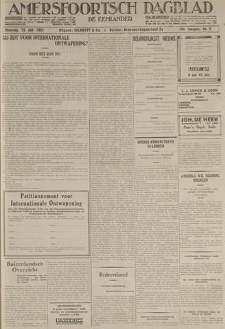 Amersfoortsch Dagblad / De Eemlander 1931-07-13