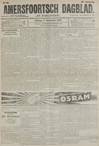 Amersfoortsch Dagblad / De Eemlander 1916-11-17