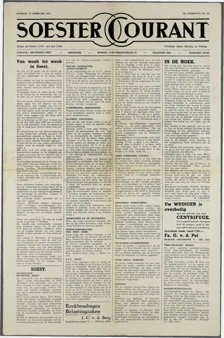 Soester Courant 1954-02-16