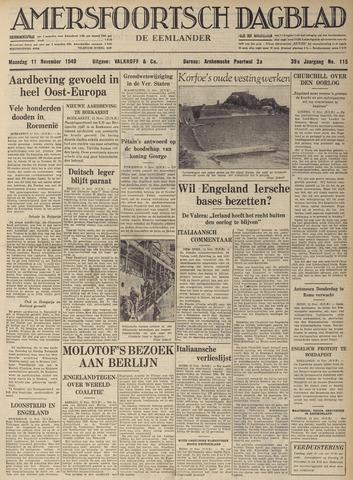 Amersfoortsch Dagblad / De Eemlander 1940-11-11