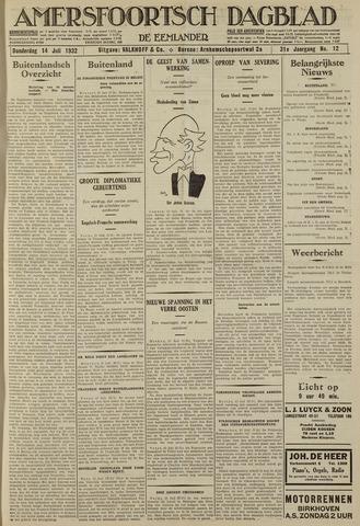 Amersfoortsch Dagblad / De Eemlander 1932-07-14