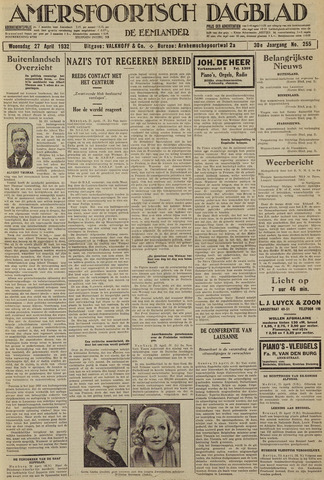 Amersfoortsch Dagblad / De Eemlander 1932-04-27