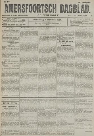 Amersfoortsch Dagblad / De Eemlander 1914-09-03