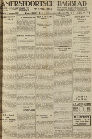 Amersfoortsch Dagblad / De Eemlander 1932-09-15