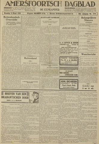 Amersfoortsch Dagblad / De Eemlander 1932-03-14