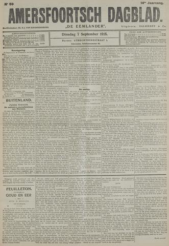 Amersfoortsch Dagblad / De Eemlander 1915-09-07