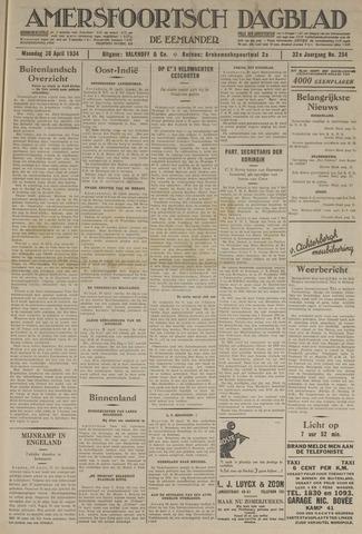 Amersfoortsch Dagblad / De Eemlander 1934-04-30