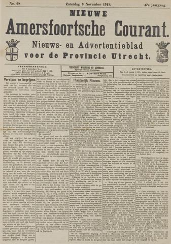 Nieuwe Amersfoortsche Courant 1918-11-09