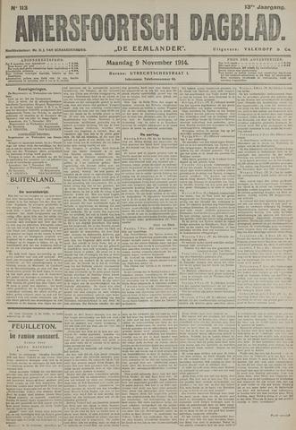 Amersfoortsch Dagblad / De Eemlander 1914-11-09