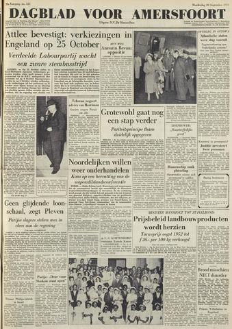 Dagblad voor Amersfoort 1951-09-20