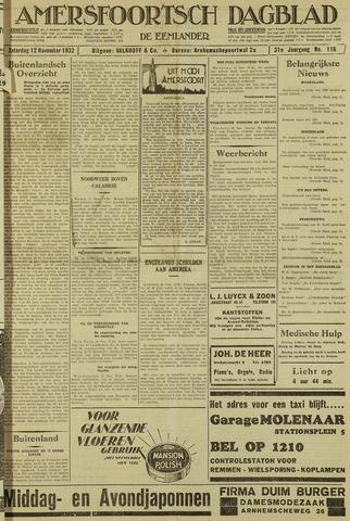 Amersfoortsch Dagblad / De Eemlander 1932-11-12