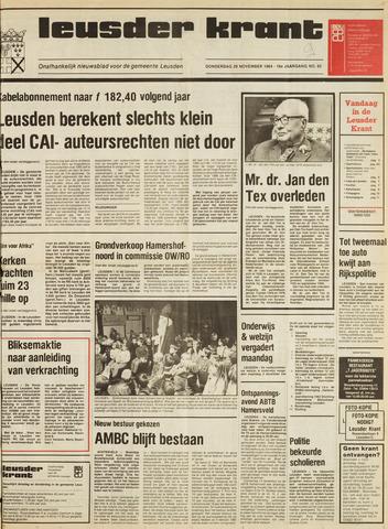 Leusder Krant 1984-11-29