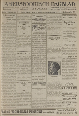 Amersfoortsch Dagblad / De Eemlander 1933-12-05