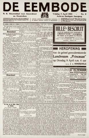 De Eembode 1924-04-04