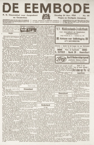 De Eembode 1925-11-24