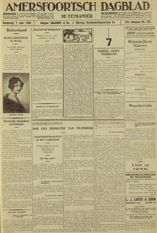 Amersfoortsch Dagblad / De Eemlander 1934-06-07