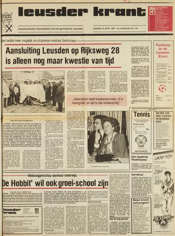 Leusder Krant 1985-04-16