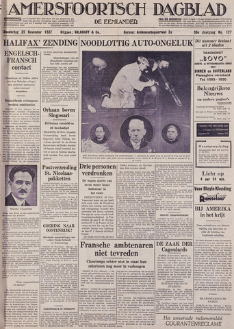 Amersfoortsch Dagblad / De Eemlander 1937-11-25