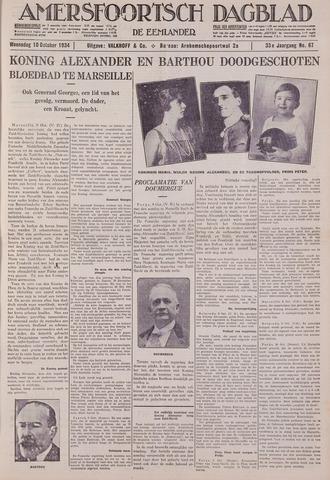 Amersfoortsch Dagblad / De Eemlander 1934-10-10