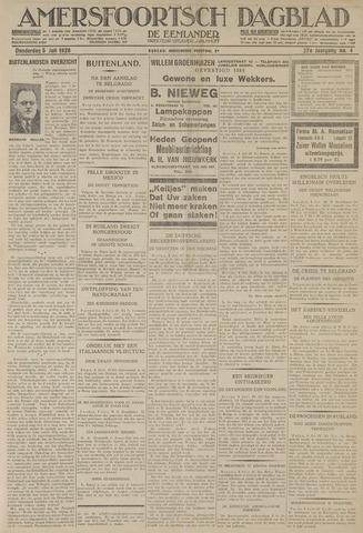 Amersfoortsch Dagblad / De Eemlander 1928-07-05