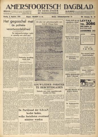Amersfoortsch Dagblad / De Eemlander 1939-08-08