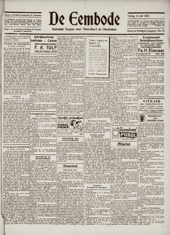 De Eembode 1933-07-14